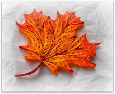 Quilled leaf