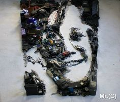 Portraits Made from Old Instruments and Scrap Objects by Christian Pierini