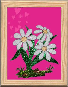 Marguerittes made with Color Dome pins and sequins. Margaritas hechas con alfileres Color Dome y lentejuelas Do It yourself. pinsart.com Art En 2d, Pin Art, Sequins, Frame, Flowers, Plants, Diy, Color, Margaritas