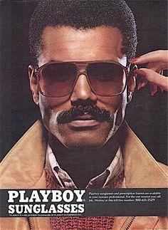 Playboy sunglasses vintage advertisement