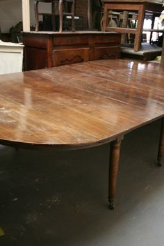 Large walnut dining table - reserved - The French House