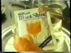 Rise and Shine 'powdered' fruit juice.  There were no bottles of fresh orange juice when I was a kid.  You had to either squeeze the oranges yourself or mix up this powder. I liked it but I'm sure I wouldn't now.