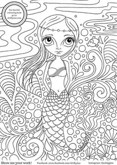 Art by Jaz free colouring page via Facebook.