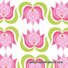 Fabric... Lush Modern Lotus in Pink by Patty Young