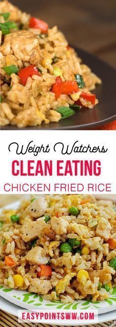 Better Than Take-Out Fried Rice – weight watchers cooking Ww Recipes, Asian Recipes, Chicken Recipes, Cooking Recipes, Healthy Recipes, Recipies, Yummy Healthy Food, Healthy Chinese Recipes, Cooking Pork