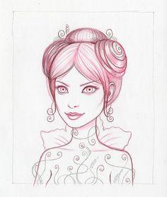 Tara McPherson   ART Drawings Drawings Fall Drawing