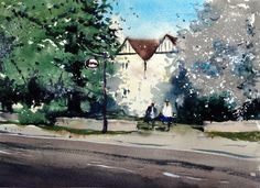 "Spring blossom at the Lawns Inn, Yate   Watercolour of Yate, 15"" x 11"" on Saunders Waterford Rough 300gms  - See more at: http://wizard-systems.typepad.com/tim_wilmots_paintings/2014/06/spring-blossom-at-the-lawns-inn-yate.html?utm_source=feedburner&utm_medium=feed&utm_campaign=Feed%3A+OriginalWatercoloursByTimWilmot+%28Original+Watercolours+by+Tim+Wilmot%29#sthash.Z8jvAKg1.dpuf"