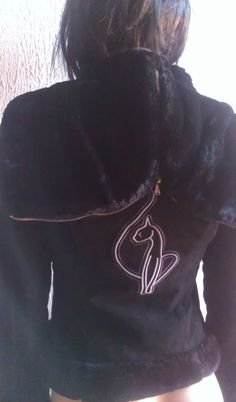 Baby Phat Suede Genuine Leather Shearling Jacket with split zip hood Sale