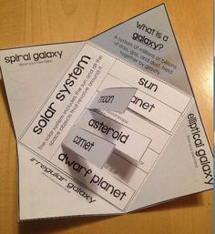 Space vocabulary foldable activity for interactive notebooks - FREE for a limited time!!
