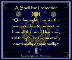 Spell for protection of all kinds