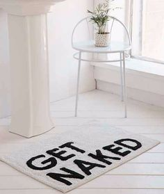 get naked funny bathroom mat