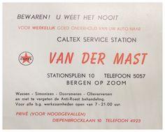 Reclame flyer van Caltex Service Station, vaak geplaatst tussen de ruitenwissers van geparkeerde auto's