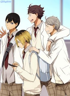 the pretty setters Kageyama, Oikawa, Kenma, and Sugawara