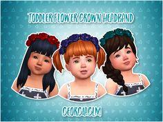 Lana CC Finds - Toddler Flower Crown Headband