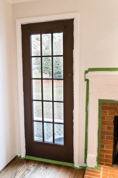 A quick tip for painting French doors without scraping, taping, or splotchy peeling paint. This trick saves SO much time and looks amazing like a factory finish!