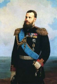 "Grand Duke Alexei Alexandrovich Romanov (14 Jan 1850-14 Nov 1908) Russia portrait by Alexey I Korzukhin in 1889. Alexei was  5th child of Emperor Alexander II ""Sasha"" (Alexander Nikolaevich Romanov) (1818-1881) Russia & Marie-Maria (Maria Alexandrovna) (1824-1880) Hesse, Germany. He was General-Admiral, the head of the Russian Naval fleet. In 1905 after the Russian defeat in the Battle of Tsushima he was relieved of his command."