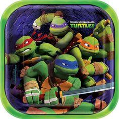 """TMNT Teenage Mutant Ninja Turtles  Set of three 9/"""" Square Canvas Pictures Print"""