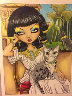 Jasmine Becket Griffith coloring book pages. Sanura colored by Dawn