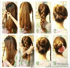 long hair styles for women (casual hair updos mom) Step By Step Hairstyles, Diy Hairstyles, Stylish Hairstyles, Gorgeous Hairstyles, Simple Hairstyles, Love Hair, Great Hair, Awesome Hair, Casual Hair Updos