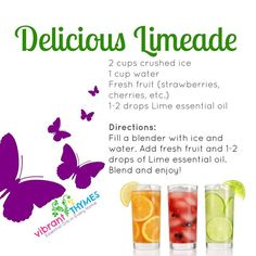 Looking for something cool and refreshing WITH health benefits? Try this delicious limeade recipe made with essential oils