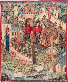 The Legend of King Arthur A beautiful Medieval Renaissance Tapestry depicting the legendary life of King Arthur. King Arthur Legend, Medieval World, Medieval Art, Illustrations, Illustration Art, Renaissance, Roi Arthur, Green Knight, Celtic