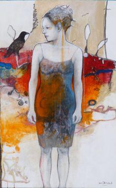 GOOD MORNING - 60'' x 36'' - Joan Dumouchel - technique mixte sur toile