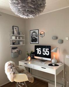 Is To Me - Scandinavian Design, Homeware, Accessories & Home Room Design, Home Office Design, Home Office Decor, Study Room Decor, Room Ideas Bedroom, Bedroom Decor, Room Ideias, Cosy Apartment, Bedroom Colour Palette
