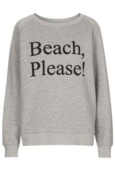 **Beach, Please! Sweat by ASHISH X Topshop