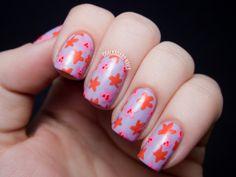 Chalkboard Nails: Petite Blossoms - Seche Bright and Bold Nail Art