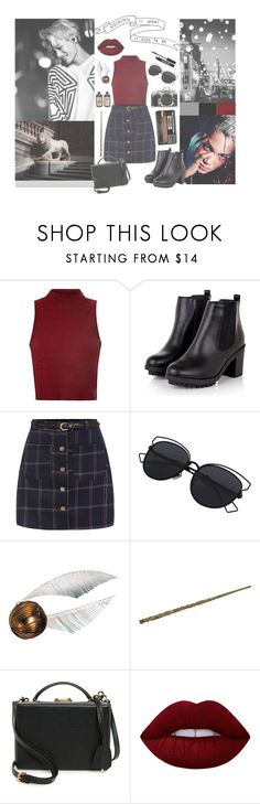 """""""***Gryffindor - Kai***"""" by milda-mint ❤ liked on Polyvore featuring Glamorous, Nikon, Mark Cross, Lime Crime and Lord & Berry"""