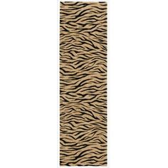 Nourison Cosmopolitan Beige Tiger Print Runner Rug (305 CAD) ❤ liked on Polyvore featuring home, rugs, beige, nourison area rugs, cream rug, beige area rugs, non skid area rugs and cream colored area rugs