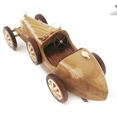 Bugatti Type 35C 1924's replica collectible | Etsy Wooden Toy Cars, G 1, World Championship, Bugatti, Grand Prix, Two By Two, Racing, Type, Crafts