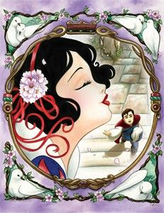 "Amy Mebberson Disney Artwork Giclee on Paper:""One Song - Snow White"" - Disney New Arrivials"
