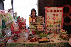 Cute, colorful + fun... perfectly communicates that she makes items for little ones! ♥ {craft booth setup}