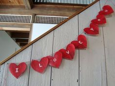 Newspaper Bunting. Cute idea for valentines decor or could be used for birthday parties with a different saying