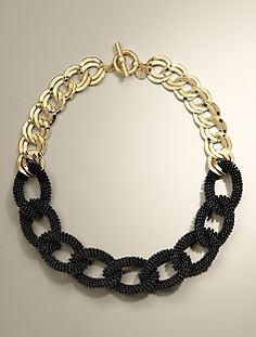 Beaded Link Necklace ~ Talbots