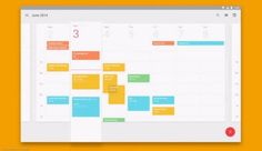 A calendar in Material Design, showing dimension and overlap