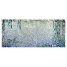 Hang this artful canvas above a seating group to create a stylish conversation space, or display it in your foyer for an eye-catching focal point. Crafted in the USA, this chic design showcases a print of Waterlillies, Morning II by Claude Monet. Product: Canvas printConstruction Material: Canvas and woodFeatures: Reproduction of Claude Monet's Waterlillies, Morning IIGallery wrappedMade in the USA