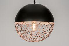 hanglamp 72230: modern, zwart, mat, metaal