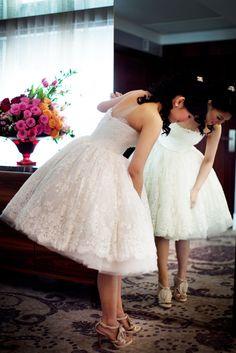 Wedding dress on Rock n Roll Bride