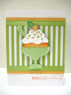 Ice Cream Card - Birthday Bash Cricut Cartridge