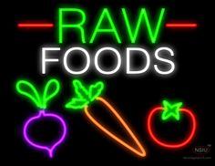 Whole Foods Veggies Real Neon Glass Tube Neon Signs Neon Food, Raw Food Recipes, Handmade Art, Veggies, Neon Signs, Foods, Glass, Free Shipping, 1 Year