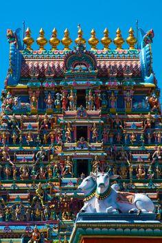 The Goppuram of the Kapaleeshwarar Temple in Chennai India by Thomas Guignard