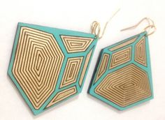 Hash & Chez earrings. Check out their amazing other stuff on Etsy. Wicked cute!