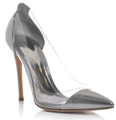 Free shipping 2014 same to Gianvito Rossi women pumps gray patent leather genuine leather high heels spring summer pumps