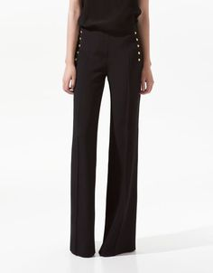 SIDE STUDDED TROUSERS - Trousers - Woman - ZARA United States