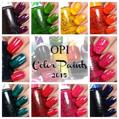 OPI Color Paints swatches via @alllacqueredup - Great review and swatches as always