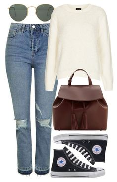"""""""Untitled #5990"""" by rachellouisewilliamson on Polyvore featuring Topshop, Ray-Ban, Converse and MANGO"""