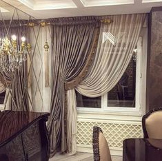 New Ideas For Bedroom Modern Curtains Window Treatments Curtains With Blinds, Curtains Living Room, Elegant Curtains, Living Room Decor Curtains, Curtains Living, Luxury Curtains, Curtain Styles, Curtain Designs, Classic Curtains