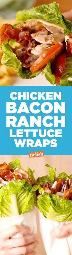Chicken Bacon Ranch Lettuce Wrap